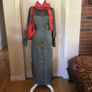 DKNY Shirtwaist Maxi Dress Size Medium